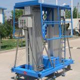Het dubbele Platform van het Werk van de Lift van de Legering van het Aluminium van de Mast Lucht