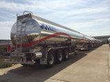semi-remorque inoxidable d'essence de 3 essieux 52000liters