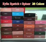 Kylieのリップはさみ金の液体の無光沢の口紅の構成のリップの光沢28カラー