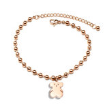 Frauen-Schmucksache-Form-Edelstahl-nettes Bären-Charme-Armband