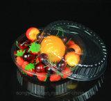 O bolo transparente Embalagem de salada de frutas bandeja de plástico