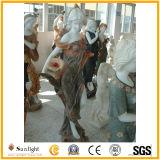 Estátua de mármore branca, escultura de mármore, escultura de pedra do jardim