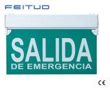 La DEL quittent le signe, lumière Emergency, signe de sortie de secours de DEL, signe de DEL Salida