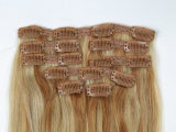 Выдвижение волос Remy наградного качества реальное Зажим-в