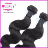 Quercy Hair Natural Color Virgin 100% Body Wave Hair Weave (W-067c)