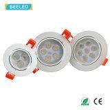 Blanco caliente de Dimmable de la luz del punto de la alta calidad 3W LED Downlight Epistar de RoHS del Ce
