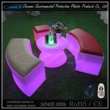 Mueble de plástico recargable LED silla de bar colorido