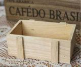 Caixa de armazenamento de madeira natural Multi-Funtion
