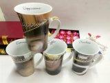 Taza de café alta grande de la capacidad 16oz del gres barato al por mayor