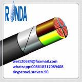 Câble de fil électrique de cuivre blindé isolé par PVC