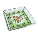 Plateau décoratif de bijou en métal de vente chaude pour le cadeau promotionnel (Hx-7600)