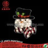 Basse tension 24V 160cm vacances de Noël Bonhomme de neige blanche 2D de la Sculpture décoration lumière RoHS Ce&