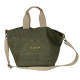 Bolso lavado tamaño pequeño verde de las mujeres del papel de Kraft (16A088-3)