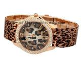 Мода часы Crystal из натуральной кожи для запястья