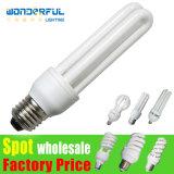 Des Lieferanten-heißer Verkaufs-preiswerter Großverkauf-2u/3u/4u energiesparender heller Beleuchtung/E27/B22/E14/E40 Lotos Lampen-Birnen-/T3/T4/T5-voller halber gewundener des Gefäß-LED energiesparendes CFL