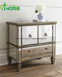 Modern Elegant Clear Pure Bedroom Vanity Espelhado Multi Drawers Bedside Chest