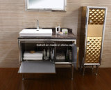 Governi caldi di vanità della stanza da bagno della mobilia dell'acciaio inossidabile del prodotto di vendite (T-084)