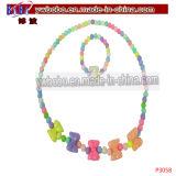 놓이는 소녀 결혼식 진주 목걸이 귀걸이 팔찌 아이 보석 (P3063)