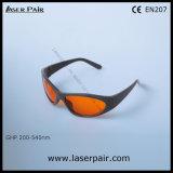 de Glazen van /Protection van de Bril van de Veiligheid van de Laser van 532nm met Zichtbare Lichte Overbrenging 50% & O.D5+ @ 200540nm voor Excimer, Ultraviolet, Groene Laser