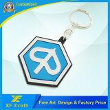 Fabricant Hot style personnalisé en PVC souple trousseau en plastique avec logo (XF-KC-P02)