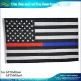 Светотеневые американские полиции утончают голубую линию флаг (J-NF05F09317)