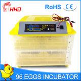 Incubadora automática del huevo de los huevos de Hhd 96 para la venta (YZ-96)
