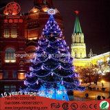 Éclairage LED vers le haut de lumière de Noël de la vue en acier 12m/6m d'arbre de Gaint