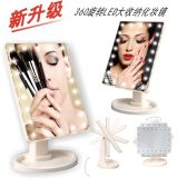 360 Rolling 16lights Stand op de Make-up Mirror van Mirror Hollywood Vanity LED met aa Battery