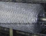 비닐에 의하여 입히는 6각형 철망사 또는 6각형 철사 그물세공