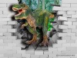 Schilderen van de Decoratie van de Dinosaurus van de Wereld van het huis het 3D Zelfklevende Magische 3D Afgedrukt op het Comité van de Muur