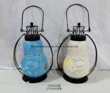 Ronde Ceramische Lantaarn met het Handvat van het Metaal