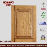 Núcleo de madera sólida del gabinete de cocina de la puerta (GSP5-030)