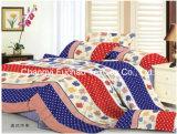 Reeks van het Beddegoed van de Dekking van het Dekbed van het Af:drukken van de Douane van de Polyester van de Grootte van het Huis van China Suppiler de Textiel Tweeling Kleurrijke Goedkope