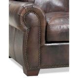 Sofá moderno de la sala de estar con el sofá del cuero del Tapa-Grano