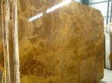 Mattonelle di pavimento superiori del marmo di colore giallo del rame di prezzi di fabbrica