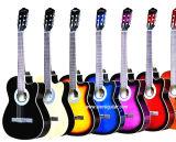중국 Aiersi 싼 Cutway 모양 색깔 바디 학생 고아한 기타