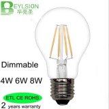 A60 4W 6W 8W LEDのフィラメントの球根