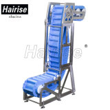 Hairise Nahrungsmittelgrad-geneigter vertikaler justierbarer Bandförderer