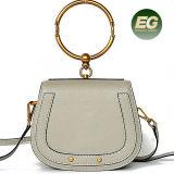 2017 Bolsa de mão de luxo de luxo Bolsa de mão de couro real Bolsas de ombro de designer de moda Emg4917