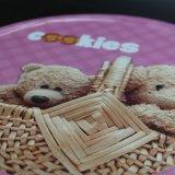 De ronde Doos van het Tin van het Beeldverhaal van de Teddybeer/de Doos van het Metaal (R005-V7)
