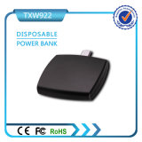 携帯用使い捨て可能な充電器1000mAh Powerbank 1つの時間の使用力バンク