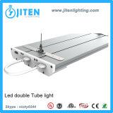 天井の据え付け品UL ETL Dlcとの線形ライトT5管LEDの軽い二重列2.4m 60W