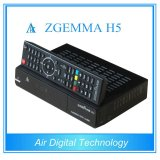 Hevc/H. 265 de Tweeling Digitale Ontvanger van Zgemma H5 Linux OS E2 FTA van Tuners dvb-S2+T2/C
