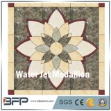 Ontwerp van het Medaillon van de Straal van het Water van de fabriek het Directe Marmeren Vierkante voor Vloer en Muur