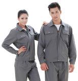 Uniformes usados cinzentos venda do mecânico do OEM, uniformes do Workwear das combinações do trabalho da lavagem de carro