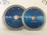 Hoja delgada Turbo sierra de diamante de cerámica Hoja de sierra de gres porcelánico
