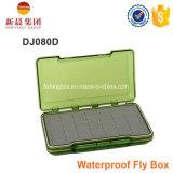 Waterproof a caixa de pesca da mosca do espaço livre do lado do dobro da espuma da régua