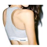 Soutien-gorge de sport de gymnastique de Spandex de coton avec le logo fait sur commande