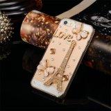 真珠のラインストーンのiPhone Samsungのための水晶携帯電話の箱