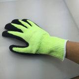 13 Nmsafety манометр из нейлона и Hppe и стальные волокна для рук с покрытием песчаных нитриловые ANSI 6 Разрез устойчив вещевого ящика